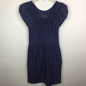 The limited purple rosettes midi dress
